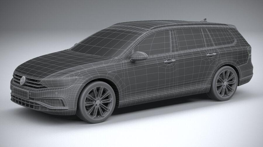 Volkswagen Passat Variant 2020 royalty-free 3d model - Preview no. 29