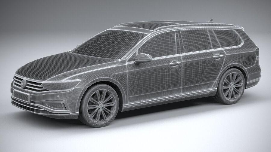 Volkswagen Passat Variant 2020 royalty-free 3d model - Preview no. 27
