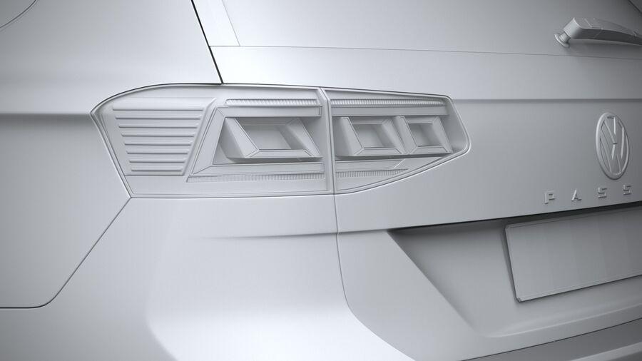 Volkswagen Passat Variant 2020 royalty-free 3d model - Preview no. 25