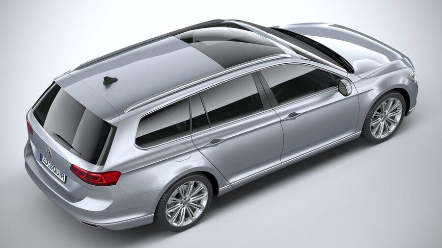 Volkswagen Passat Variant 2020 royalty-free 3d model - Preview no. 11