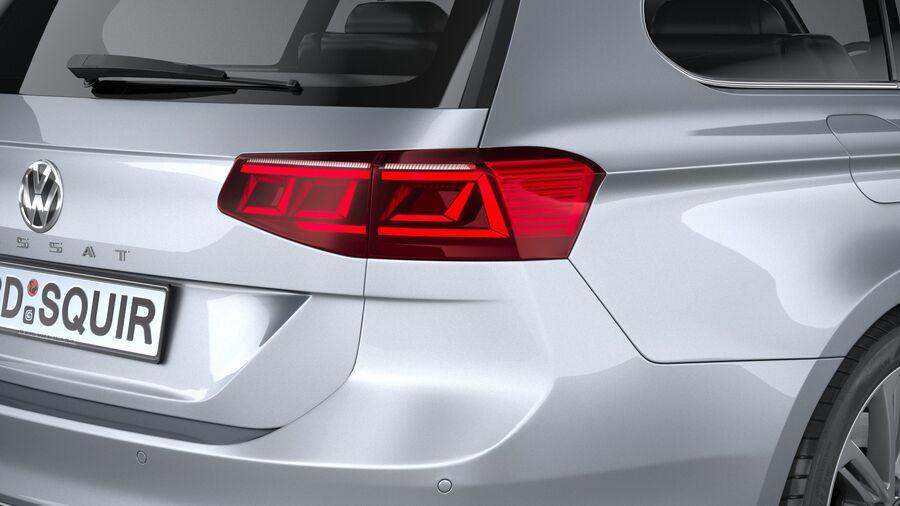 Volkswagen Passat Variant 2020 royalty-free 3d model - Preview no. 19