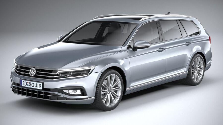 Volkswagen Passat Variant 2020 royalty-free 3d model - Preview no. 2