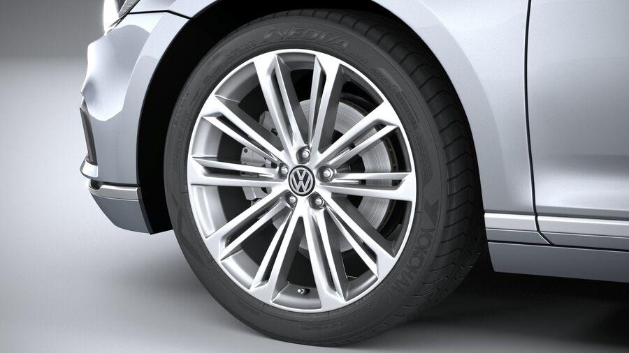 Volkswagen Passat Variant 2020 royalty-free 3d model - Preview no. 17
