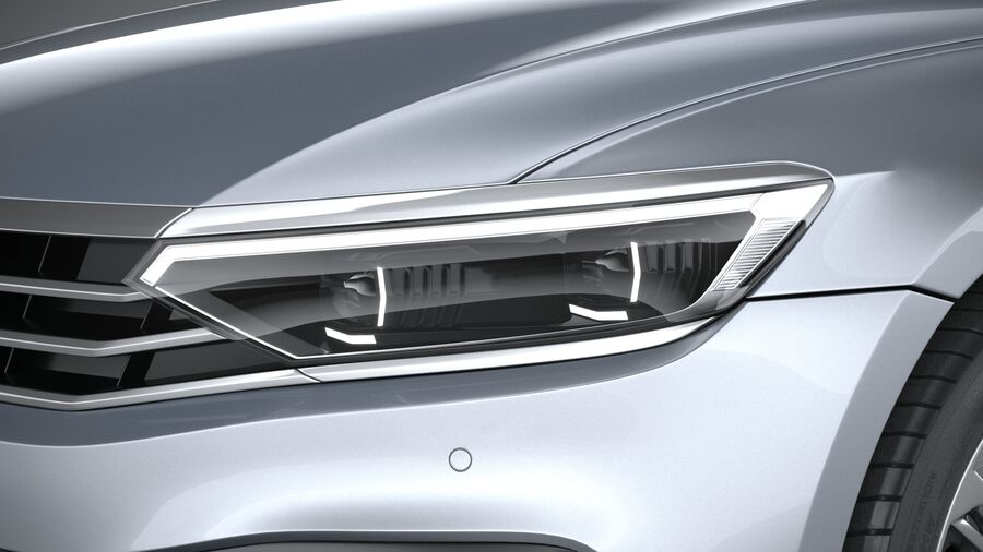 Volkswagen Passat Variant 2020 royalty-free 3d model - Preview no. 15