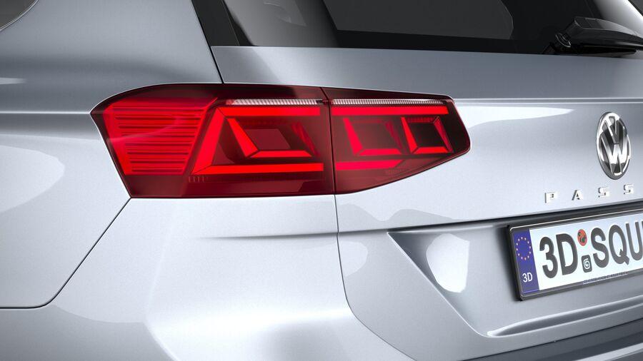Volkswagen Passat Variant 2020 royalty-free 3d model - Preview no. 16