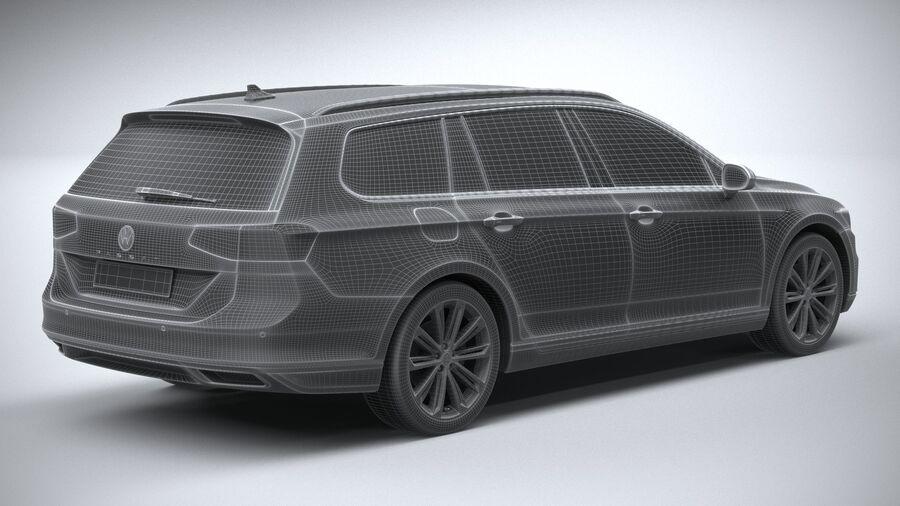 Volkswagen Passat Variant 2020 royalty-free 3d model - Preview no. 28