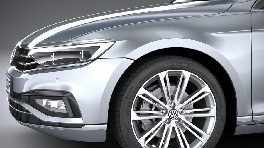Volkswagen Passat Variant 2020 royalty-free 3d model - Preview no. 4