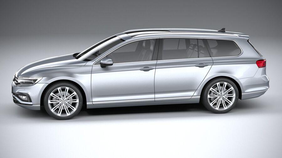 Volkswagen Passat Variant 2020 royalty-free 3d model - Preview no. 9