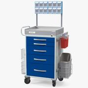 Detecto medische kar met organizer 3d model