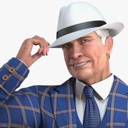 Costume de loisirs homme âgé truqué 3d model