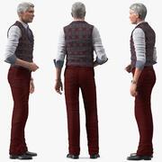Повседневная одежда для пожилых мужчин, приспособленная для Modo 3d model