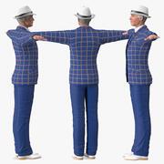 Costume de loisirs pour homme âgé monté pour Modo 3d model