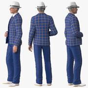 Costume de loisirs pour homme âgé monté pour Cinema 4D 3d model