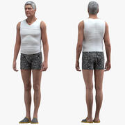 Нижнее белье старика, приспособленное для Modo 3d model