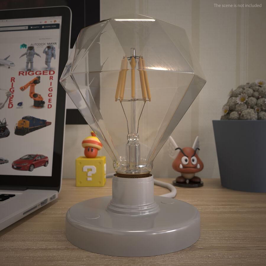 Sapphire Shape Filament LED Light Bulb royalty-free 3d model - Preview no. 7