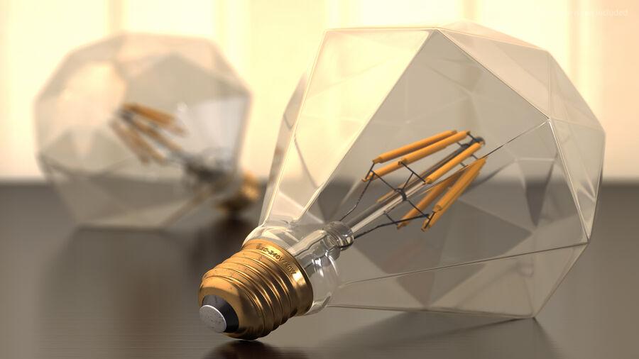 Sapphire Shape Filament LED Light Bulb royalty-free 3d model - Preview no. 5
