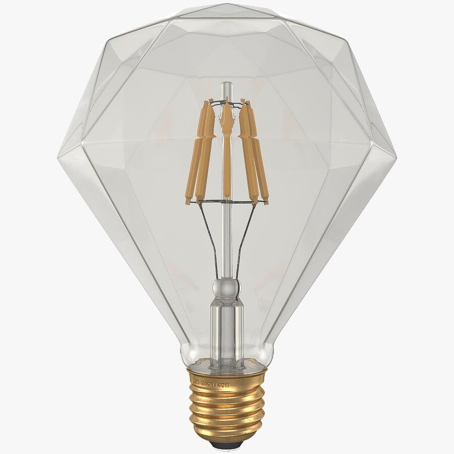 Sapphire Shape Filament LED Light Bulb royalty-free 3d model - Preview no. 1