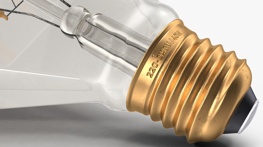 Sapphire Shape Filament LED Light Bulb royalty-free 3d model - Preview no. 14