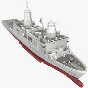 Транспортный док-амфибия класса Сан-Антонио оборудован 3d model