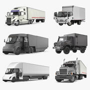 Rigged Cargo Trucks Collection 2 3d model
