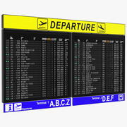공항 출발 보드 3d model