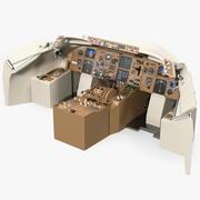 飛行機のダッシュボード 3d model