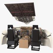 Cockpit de pilote d'avion commercial 3d model