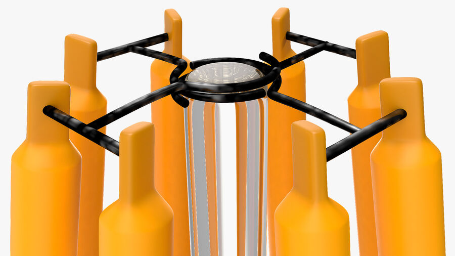 Diamond Shape Filament LED Light Bulb royalty-free 3d model - Preview no. 14