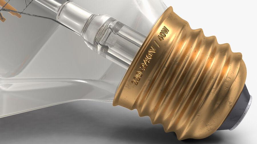 Diamond Shape Filament LED Light Bulb royalty-free 3d model - Preview no. 15