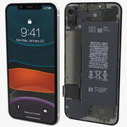 iPhone 11 avec structure interne complète 3d model