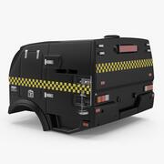 Wagon policyjny 3d model