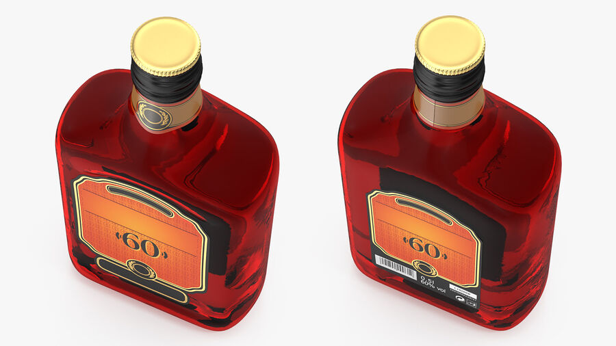 Rum Bottle 60 vol royalty-free 3d model - Preview no. 5