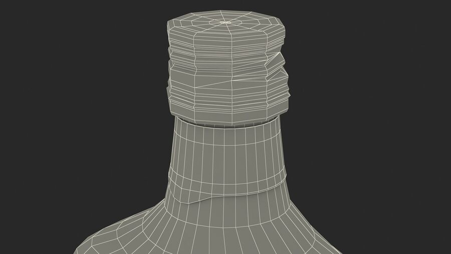 Rum Bottle 60 vol royalty-free 3d model - Preview no. 23