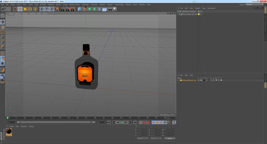 Rum Bottle 60 vol royalty-free 3d model - Preview no. 13