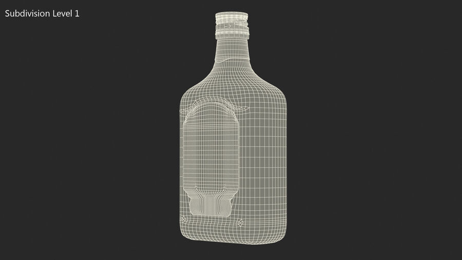 Rum Bottle 60 vol royalty-free 3d model - Preview no. 16