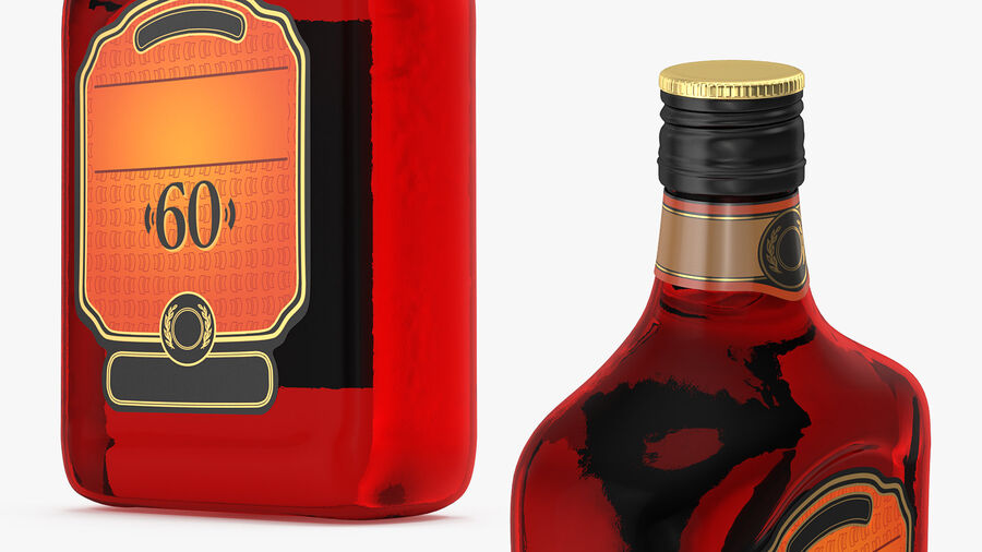 Rum Bottle 60 vol royalty-free 3d model - Preview no. 6
