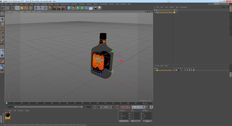 Stroh 80 Rum Bottle royalty-free 3d model - Preview no. 14