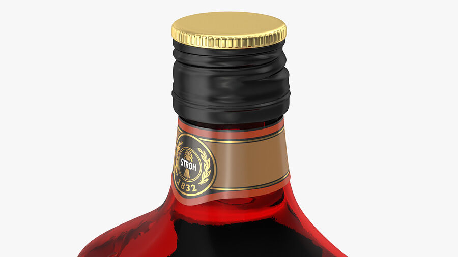 Stroh 80 Rum Bottle royalty-free 3d model - Preview no. 8