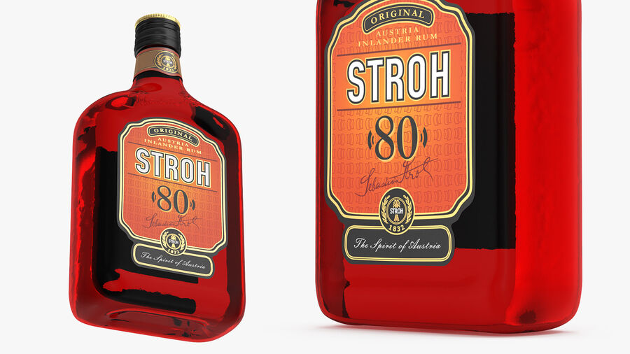 Stroh 80 Rum Bottle royalty-free 3d model - Preview no. 2