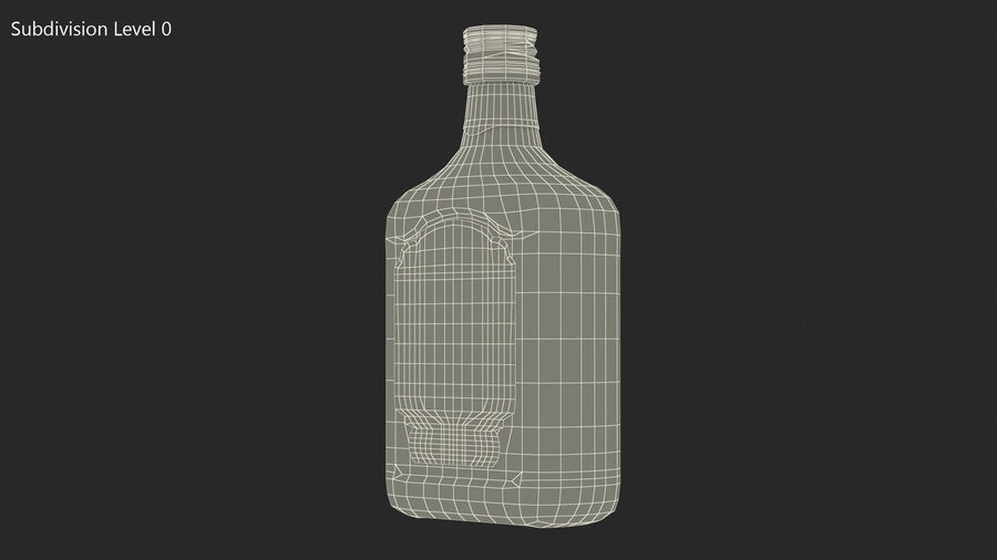 Rum Bottle 80 vol royalty-free 3d model - Preview no. 15