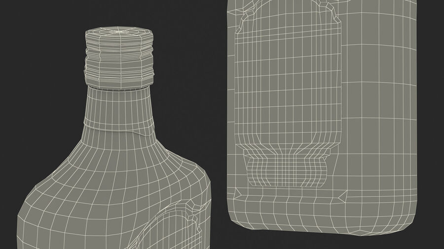 Rum Bottle 80 vol royalty-free 3d model - Preview no. 24
