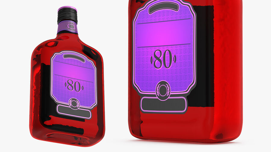 Rum Bottle 80 vol royalty-free 3d model - Preview no. 6