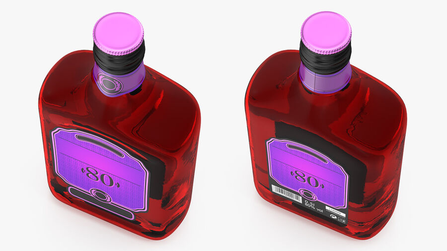 Rum Bottle 80 vol royalty-free 3d model - Preview no. 5
