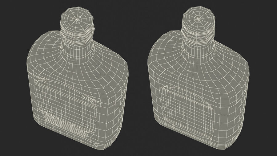 Rum Bottle 80 vol royalty-free 3d model - Preview no. 22