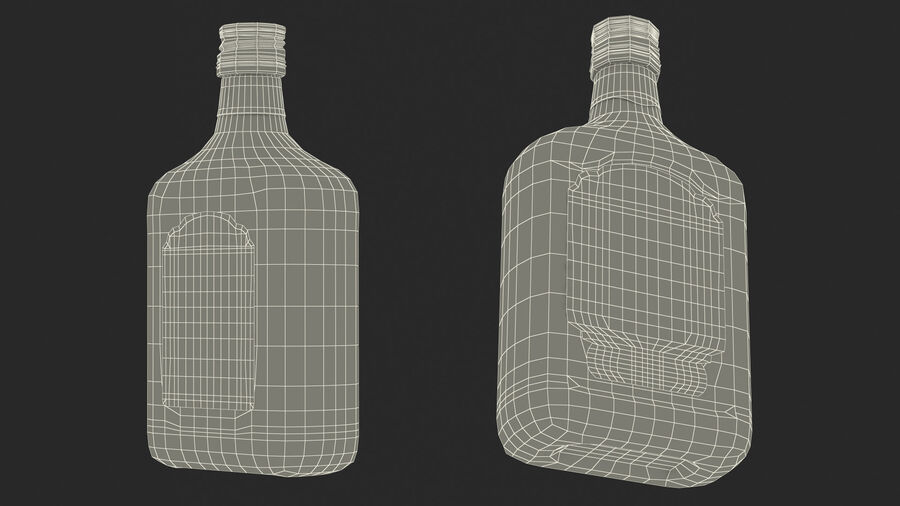 Rum Bottle 80 vol royalty-free 3d model - Preview no. 21