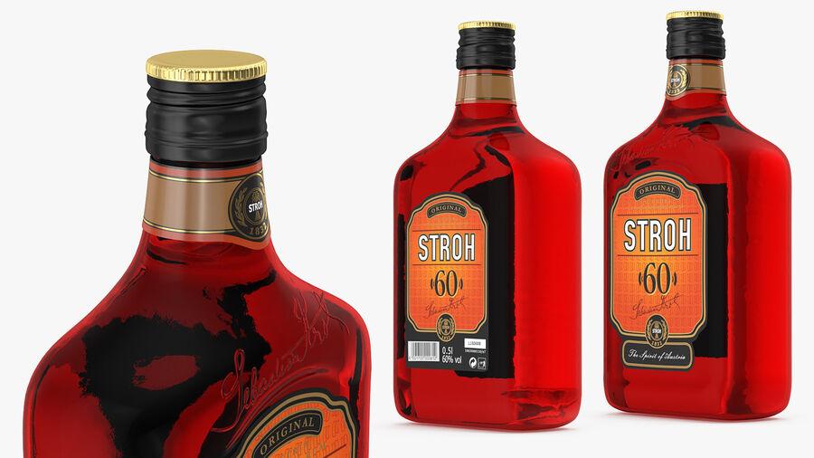 Stroh 60 Austrian Rum Bottle royalty-free 3d model - Preview no. 2