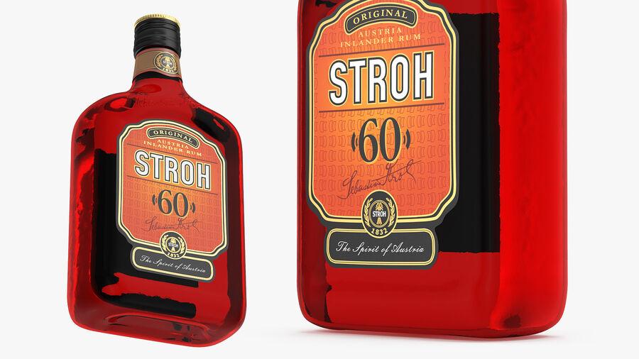 Stroh 60 Austrian Rum Bottle royalty-free 3d model - Preview no. 5