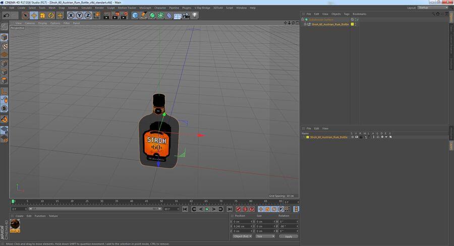 Stroh 60 Austrian Rum Bottle royalty-free 3d model - Preview no. 14