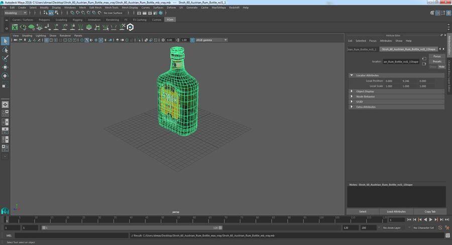 Stroh 60 Austrian Rum Bottle royalty-free 3d model - Preview no. 13