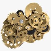 Clockwork Gear Mechanism Brass 3d model